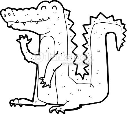 Vector Art : line drawing cartoon crocodile | 平面 | Pinterest