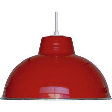 Suspension Mars BOUDET rouge 1x75 watts diam 31 cm
