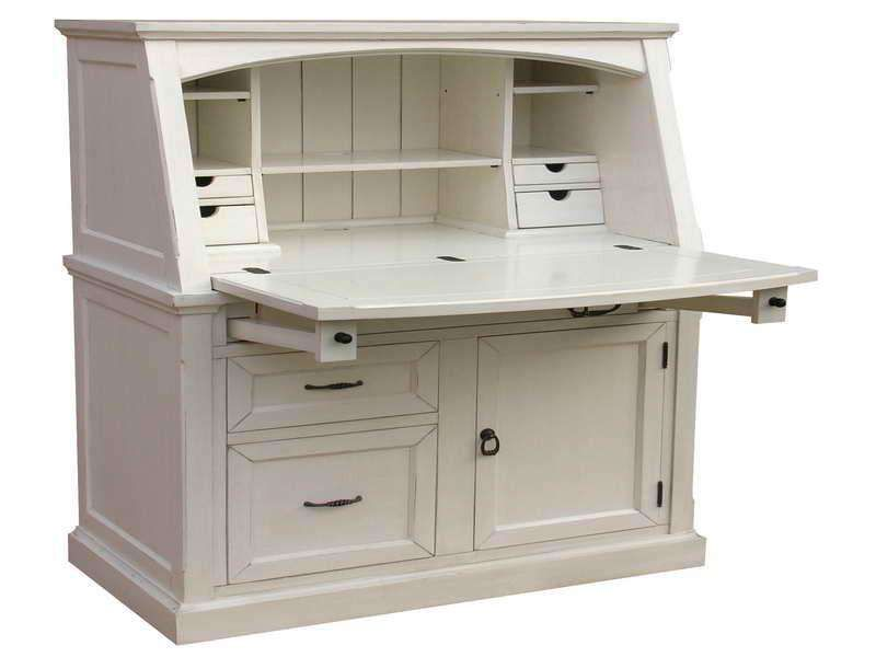 Small Secretary Desk White Ruang Jahit Interior Rumah Interior