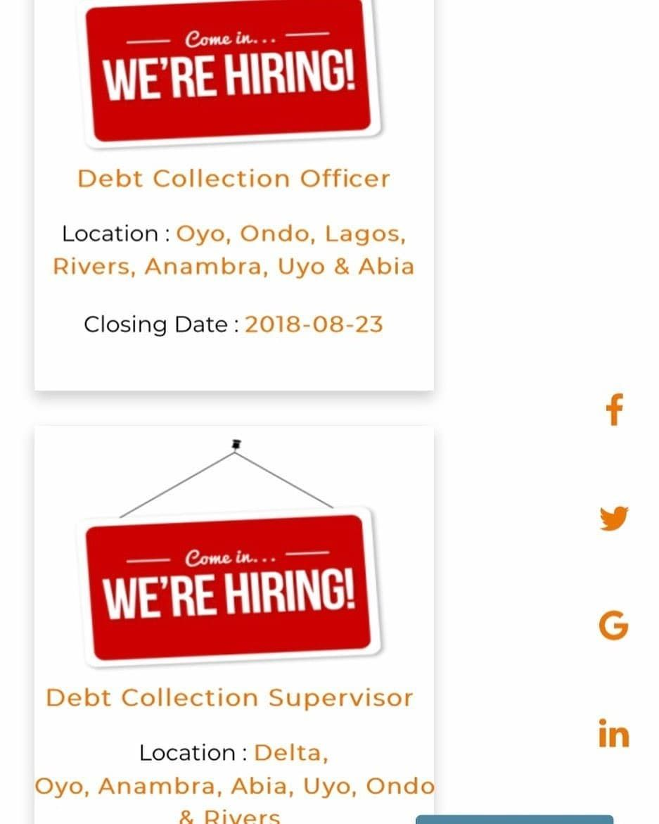Debt Collection Supervisor At Accion Microfinance Bank Limited