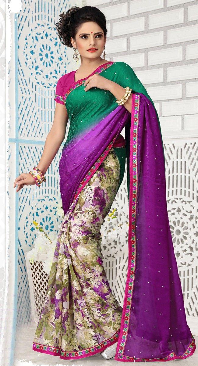 #Embroidered #Saree