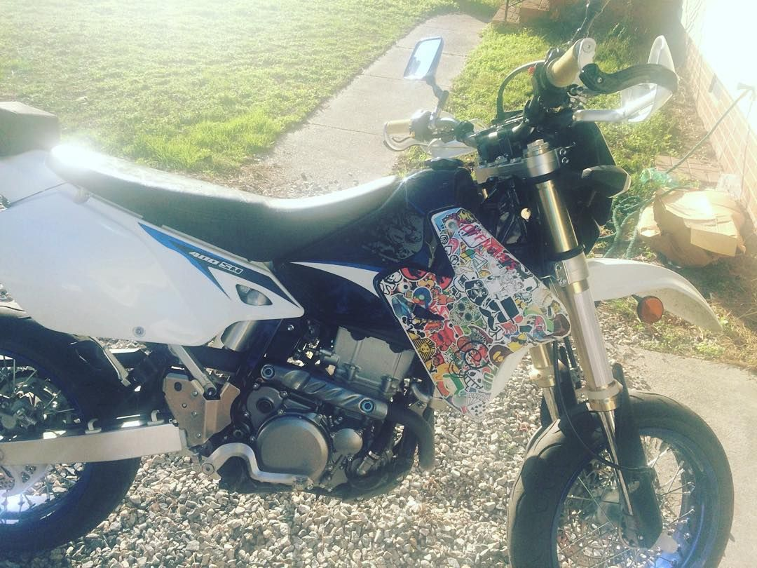 Make stickers for your car -  Ethanxbryant The Start Of An Awesome Project Drz400sm Stickerbomb Make Your Own
