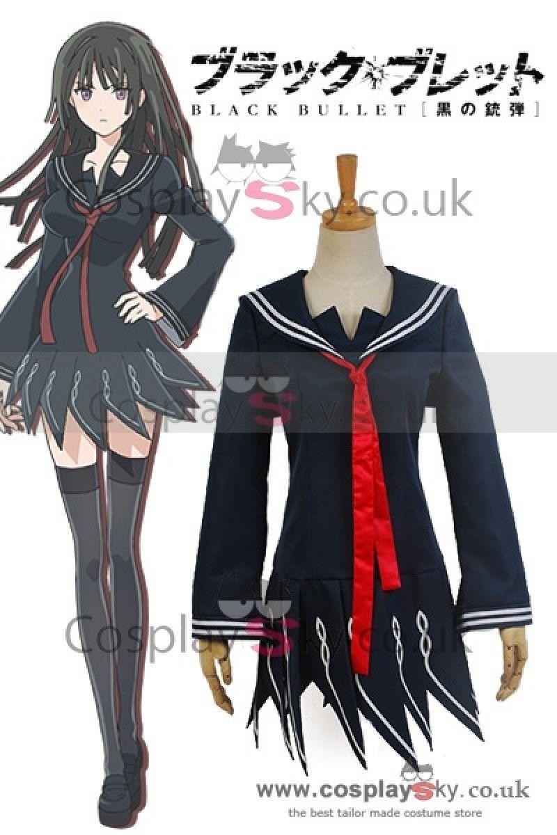 black bullet kisara tendo sailor uniform cosplay costume uk