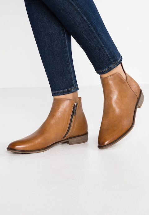 Ankle boots cognac   some stuff   Boots, Ankle boots, Ankle