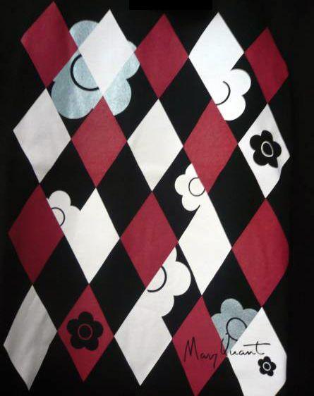 Mary Quant - Ti-Shirt 'Losanges et Fleurs'