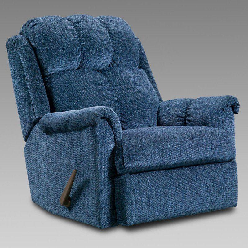 Chelsea Home Furniture Rocker Recliner Tahoe Blue 2100