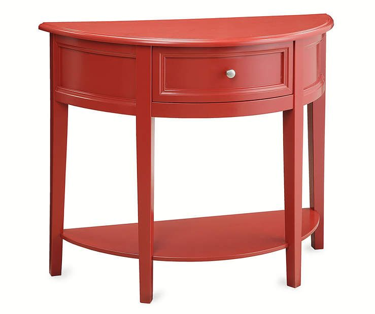 Best Red Semi Circle Accent Table At Big Lots Red Accent 640 x 480