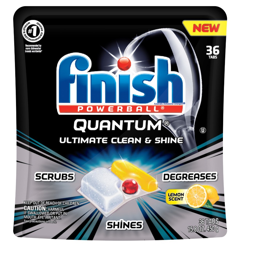 Finish Quantum Ultra Degreaser With Lemon Dishwasher Detergent 36ct Dishwasher Detergent Dishwasher Detergent Tablets Dishwasher Tablets