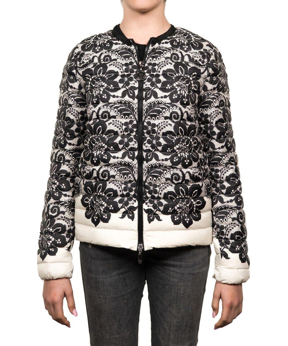 MONCLER Moncler Petiet Floral Puffer Jacket White Black