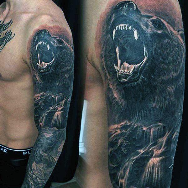 60 Sick Wolf Tattoo Designs For Men: 70 Waterfall Tattoo Designs For Men