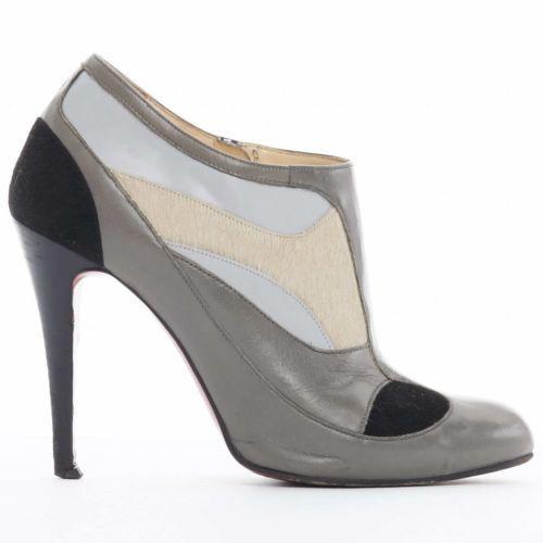 684d4805cf41 Christian Louboutin Shoes CHRISTIAN-LOUBOUTIN -Bella-grey-black-calf-colorblock