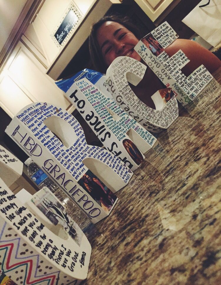 Idea for a best friends birthday | Home made present | Pinterest ...