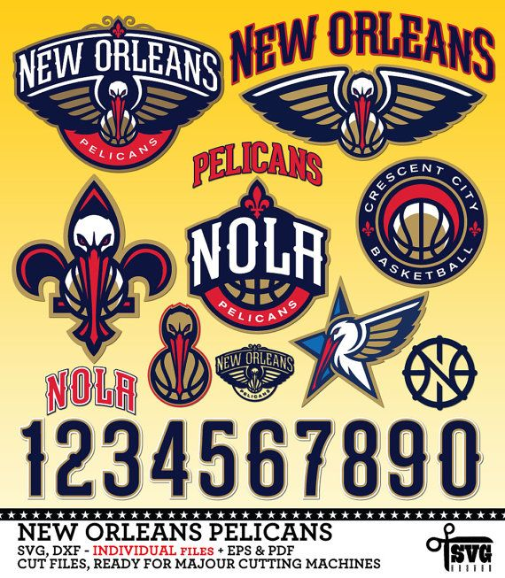 New Orleans Pelicans Logos Numbers Individual By