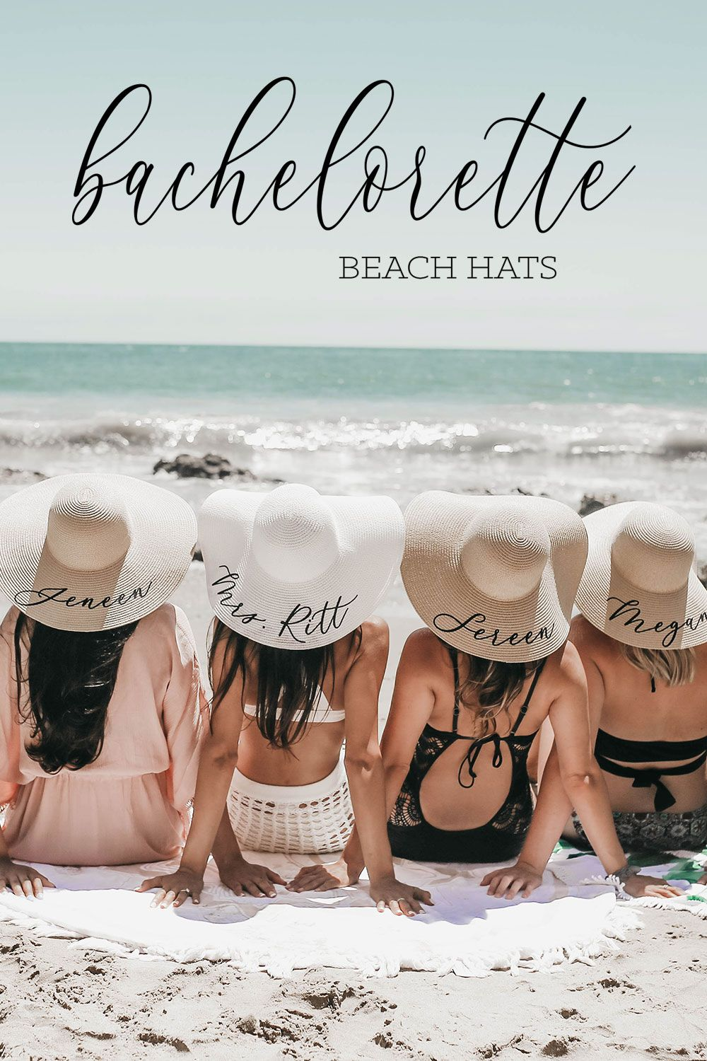 Personalized Beach Hat Beach Bachelorette Bachelorette Beach