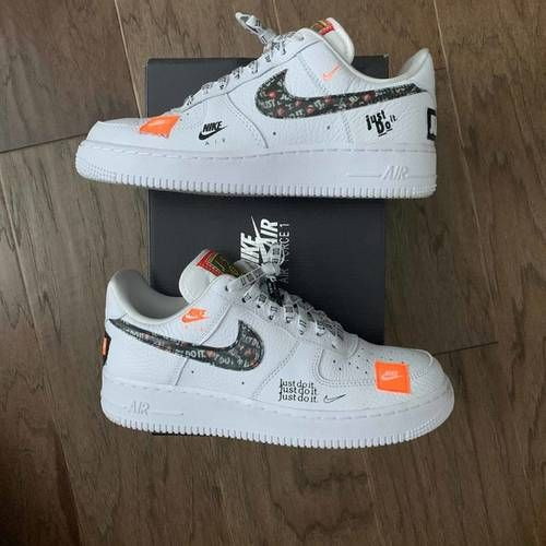 Air Force 1 Low 07 Prm Just Do It Nike Ar7719 100 Goat White Nike Shoes Nike Air Shoes Hype Shoes