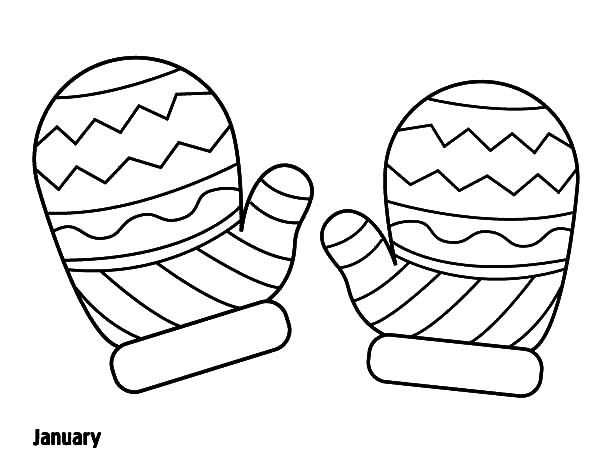 Download Mitten Coloring Sheet