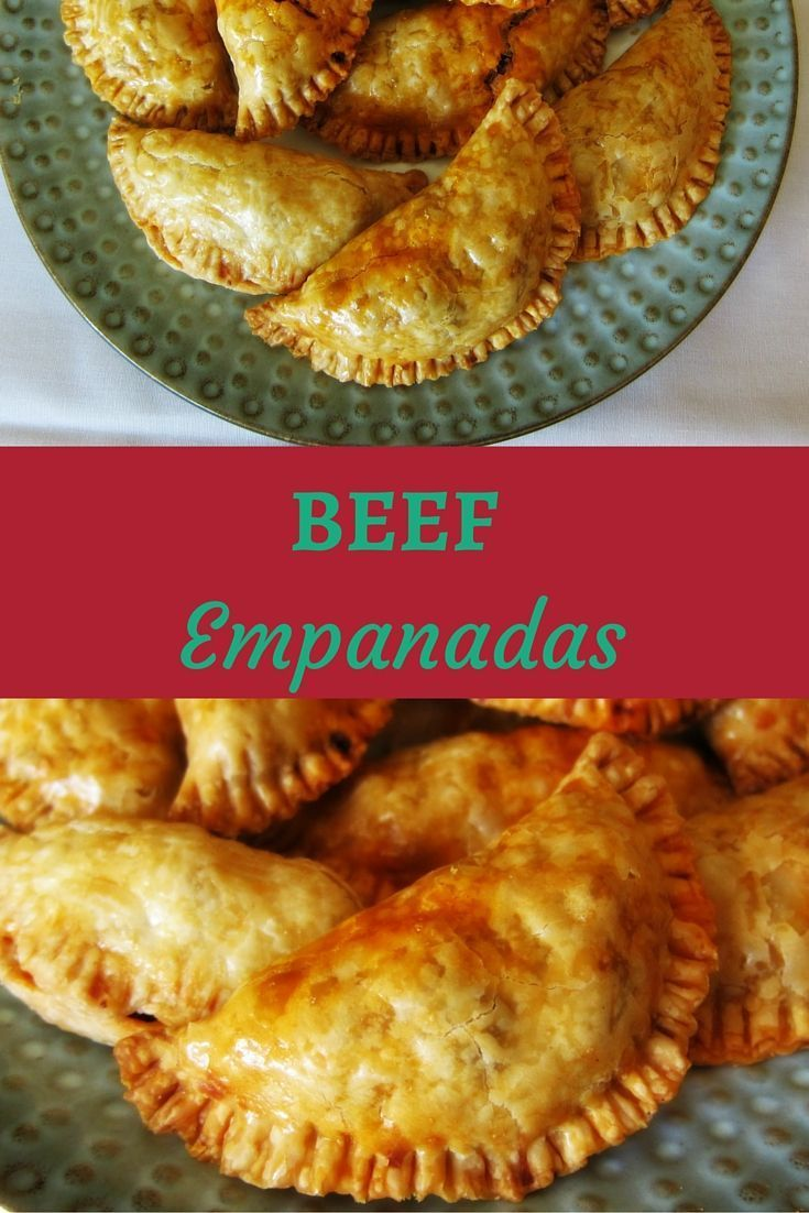 BEEF EMPANADAS Latin American savory filled pastry - yumm! Make the filling ahead of time and use prepared pie crust, and you can make these in a jiffy!