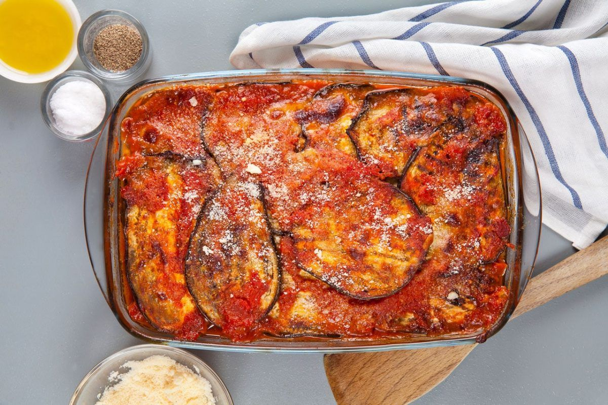 Easy Eggplant Parmigiana Casserole Recipe From Nonna In 2020 Italian Recipes Italian Recipes Authentic Recipes