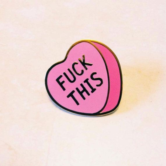 F Ck This Conversation Heart Cloisonne Hard Enamel 1 Pin Hard