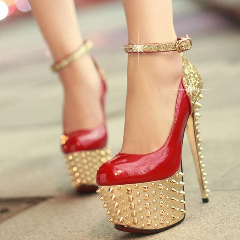 2015 Brand New Women's Sexy Stilettos High Heels Rivet Platform Pumps Fashion Bling Nightclub Shoes. free shipping supply in China cheap online clearance outlet store chmPRE