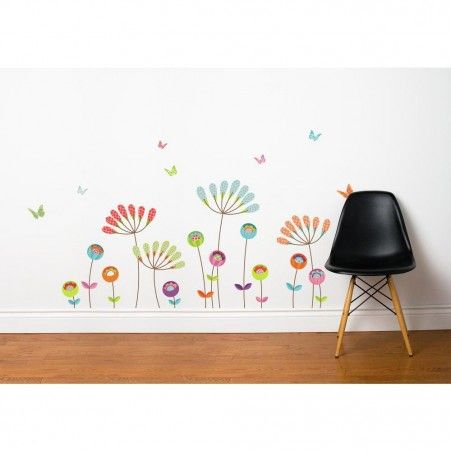 Buy your pompom flowers transfer wall decals here add some drama and texture to any room with this adorable kids decal