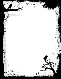 Page Borders Halloween Borders Halloween Silhouettes Printable Halloween Invitations