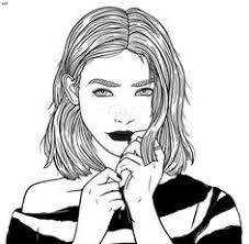 Dibujos de chicas de pelo corto
