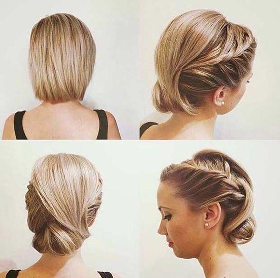Peinados recogidos elegantes cabello corto