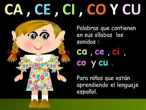 Ca Ce Ci Co Y Cu En Las Palabras Ii Lecciones Para Niños Español Para Todos Palabras En Español El Abecedario En Español Silabas