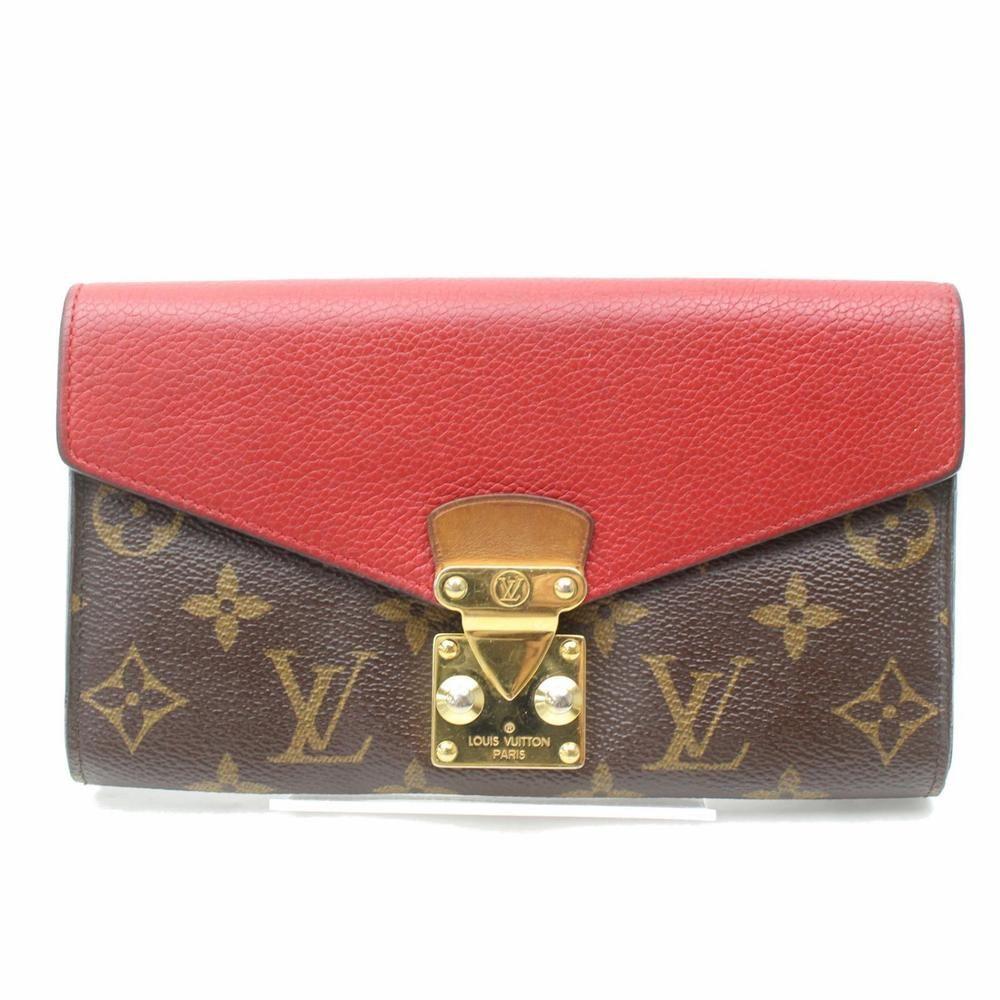 Authentic Louis Vuitton Long Wallet Portefeuille Pallas