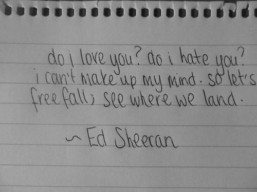 Where We Land - Ed Sheeran <3