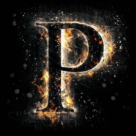 Fire letter P