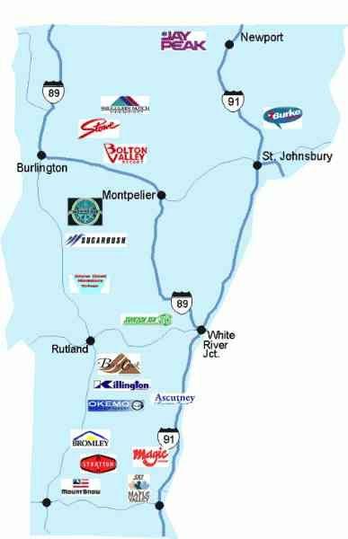 Vermont Ski Resorts Map Map Of Vt Ski Resorts | Fun | Vermont ski resorts, Skiing, Ski report