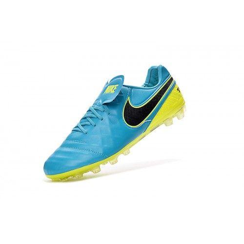 baa8beda19358 norway barato nike tiempo legend vi ag hombre azul amarillo botas de futbol  60462 95d81