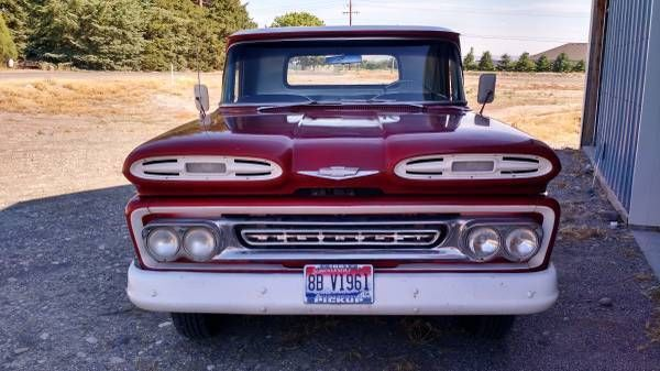 1961 Chevy Apache 10 Pickup Shop Truck For Sale Photos Technical