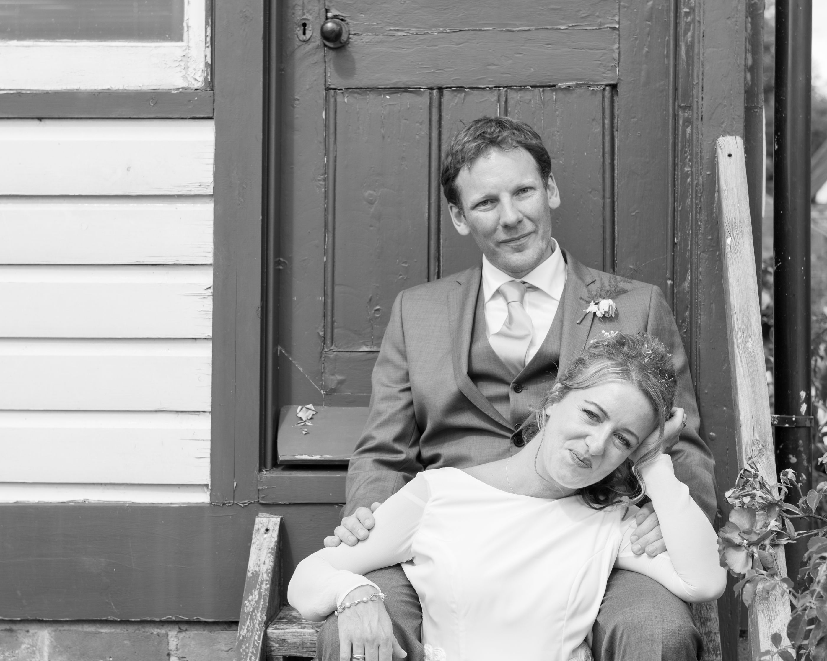 black and white country side summer wedding photography