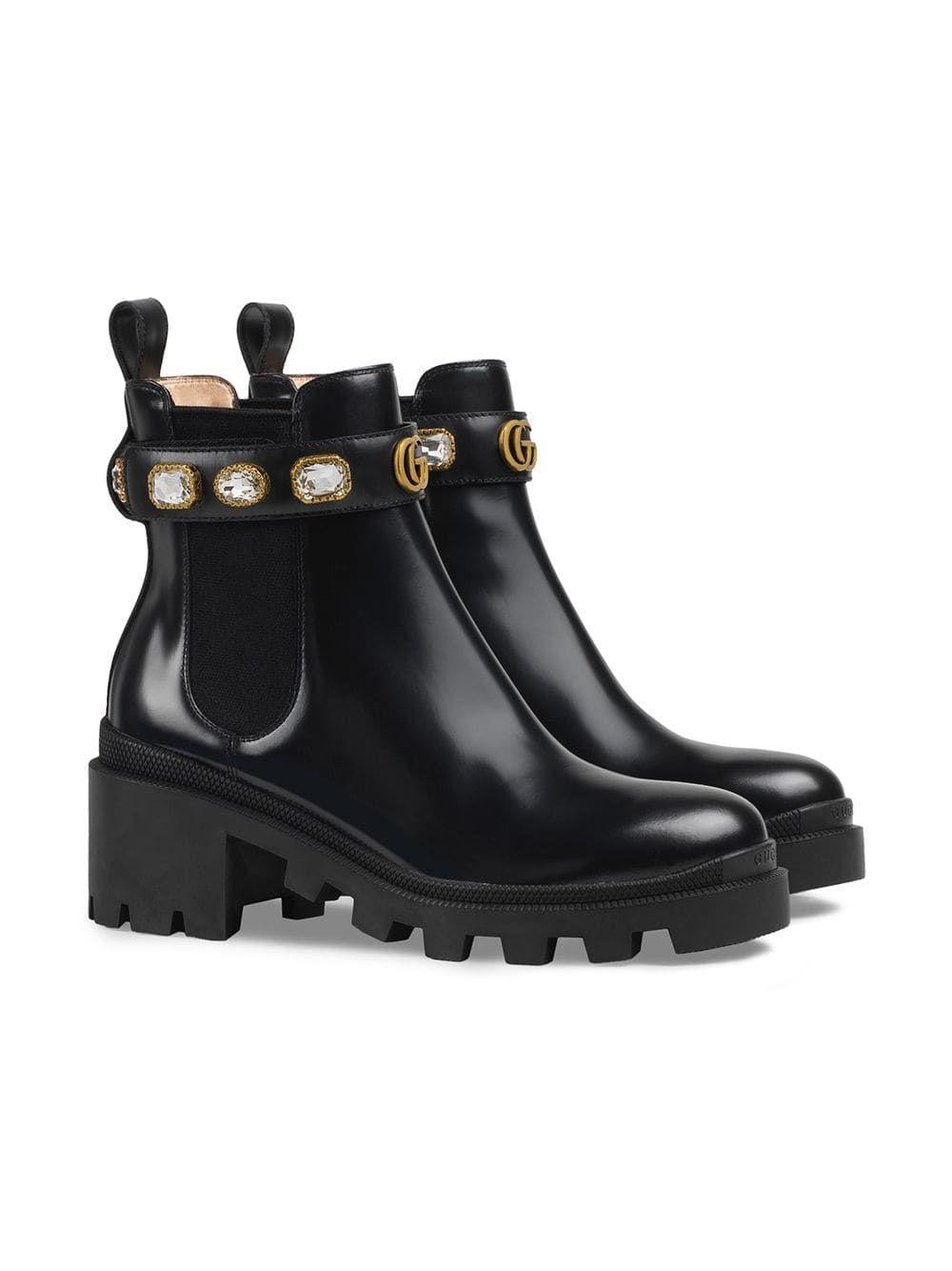 c153d511e Gucci Botines Con Correa in 2019 | Cute stuff I want | Leather ankle ...