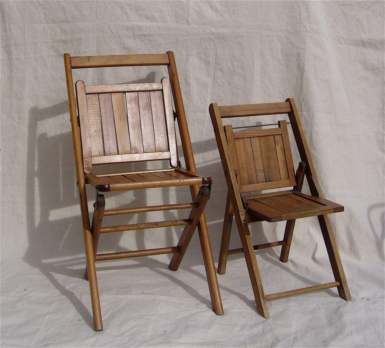 Antique Wooden Slat Folding Chairs - Antique Wooden Slat Folding Chairs Http://jeremyeatonart.com