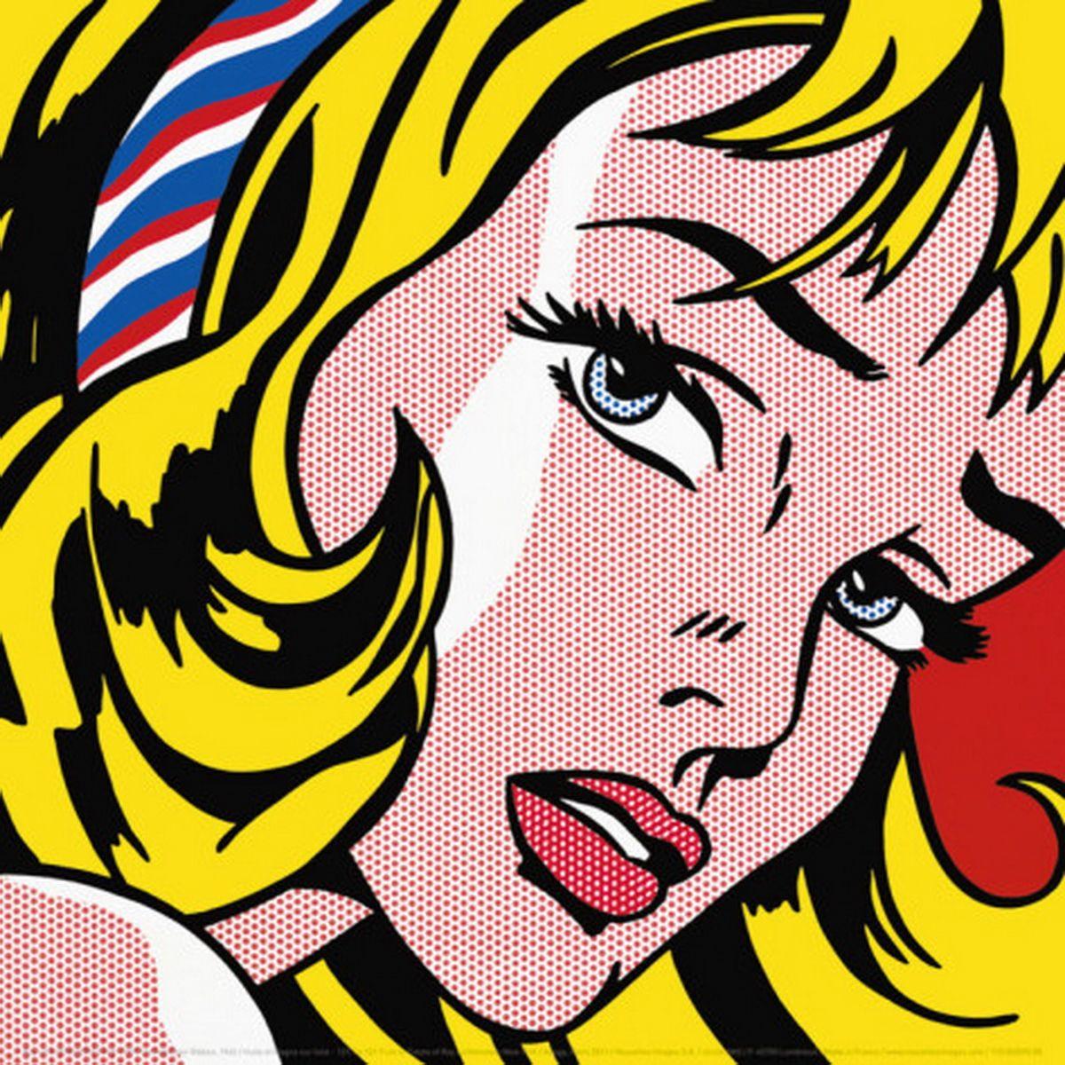 Roy Lichtenstein Girl With Hair Ribbon Artpop Roy Lichtenstein Pop Art