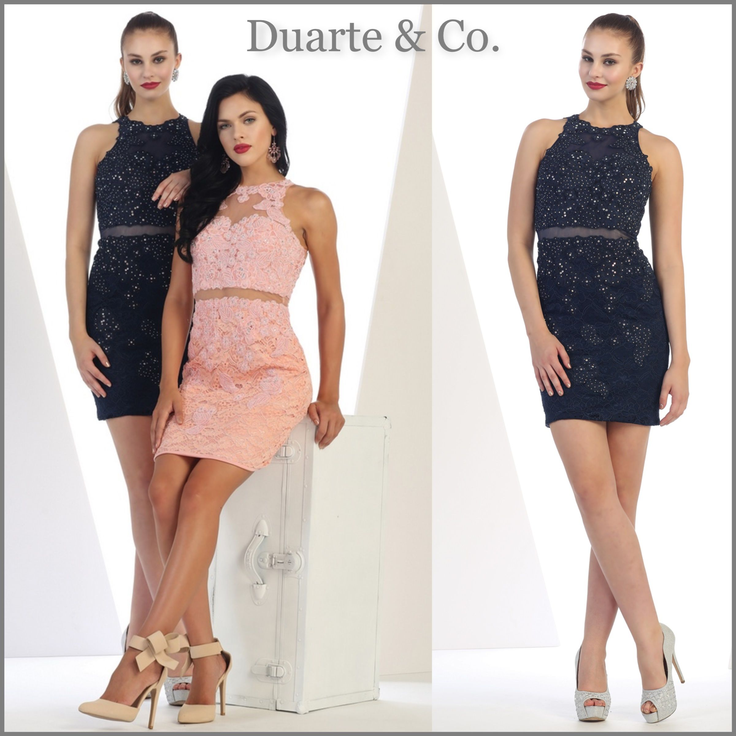 eecf11392468 MQ1291 $84.00 Dazzling Short Lace Party Dress Comes in 5 colors and is  great for Prom, Graduation, Birthday and any special occasion. Available  sizes 4-16.