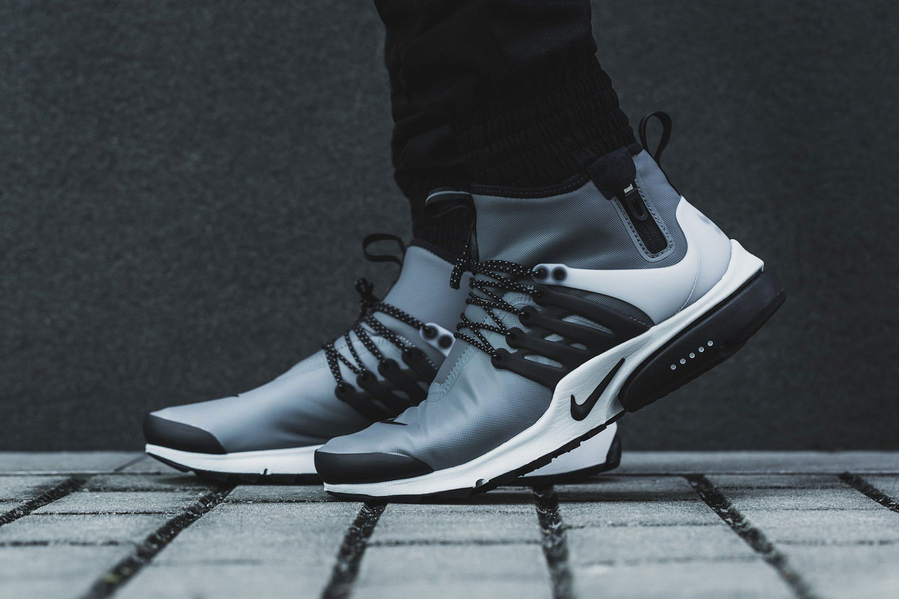Get A Closer Look At The Nike Air Presto Mid Utility S Weatherized Construction Nike Nike Air Presto Sneakers