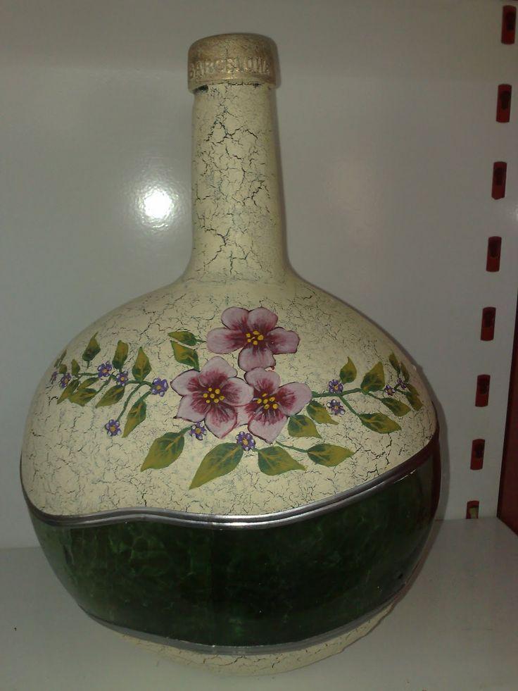 Damajuanas decoradas buscar con google flasche for Leere flaschen dekorieren