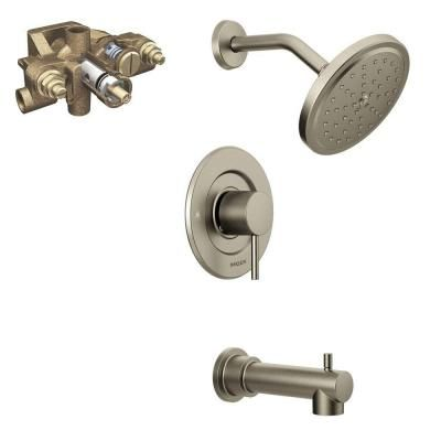moen align single handle 1 spray moentrol tub and shower faucet trim