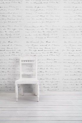 Almost White Concrete Loveletter Wallpaper By Young & Battaglia - Vintage 2.5m Panel
