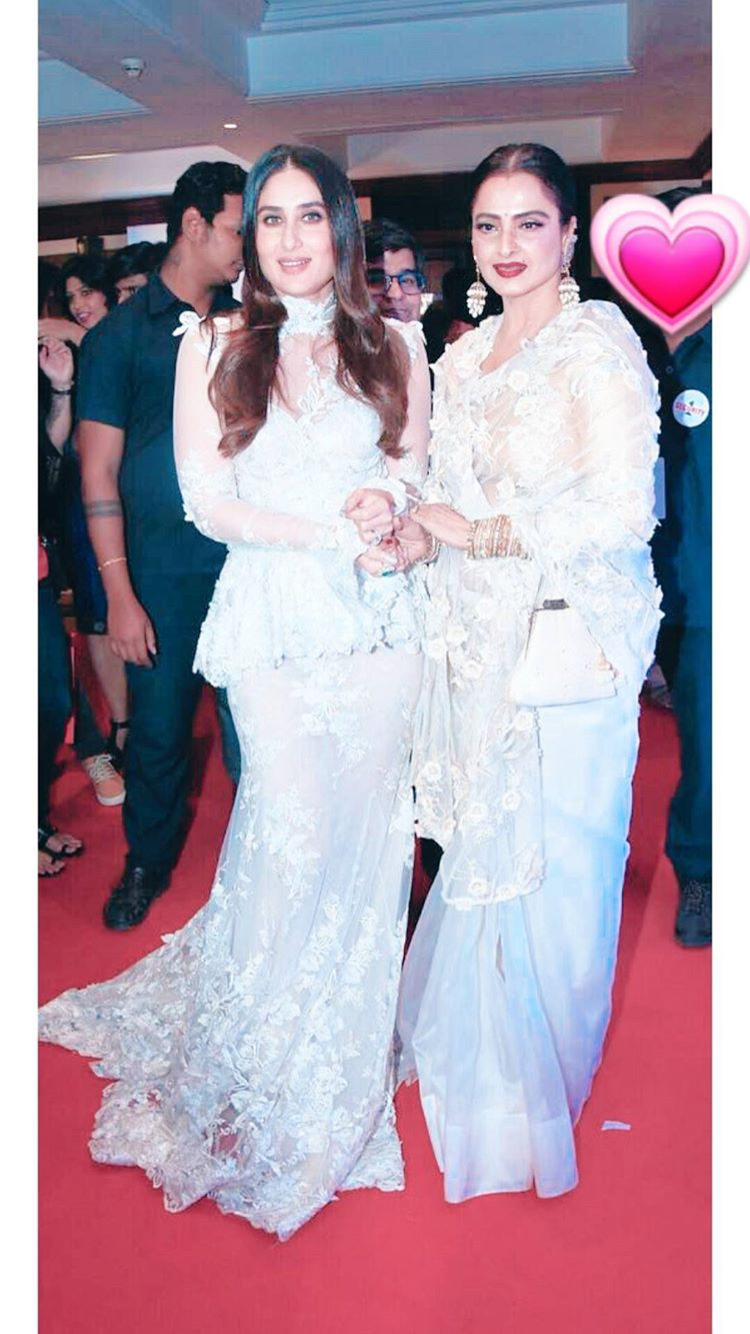 The Most Beautiful Actresses In World Kareena Kapoor And Rekha Ji Indian Designer Wear Chic Outfits Vintage Bollywood