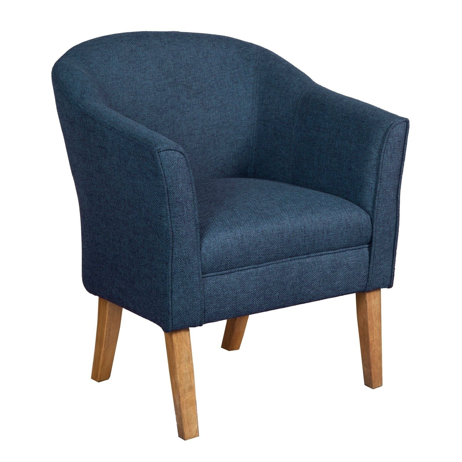 Best Fabric Upholstered Wooden Accent Chair With Curved Back 640 x 480