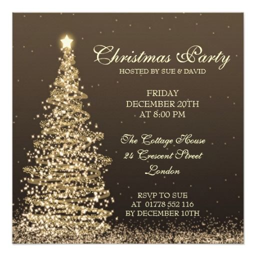 Elegant Christmas Party Card Party invitations - christmas party tickets templates