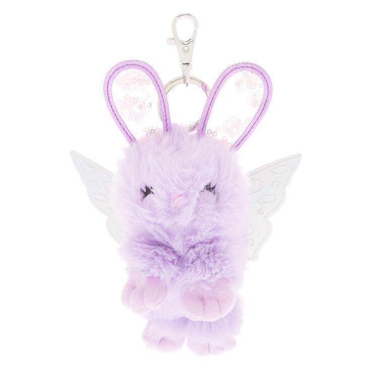 Claire's Bella the Bunny Plush Keychain - Purple #bunnyplush