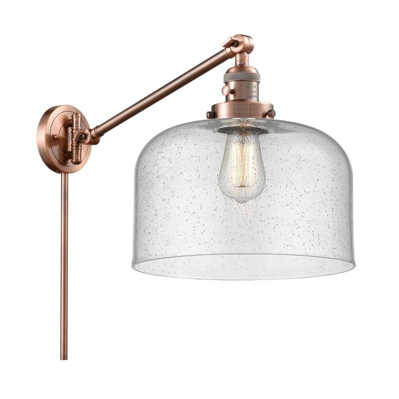Photo of Innovations Lighting 237 X-Large Bell X-Large Bell Single Light 13″ Tall Bathroo Antique Copper / Seedy Indoor Lighting Bathroom Fixtures Bathroom