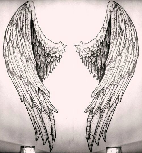 Angelic Wings Sketch Arte Idee Per Tatuaggi Angeli E Tattoo